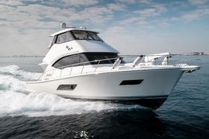 50' Riviera 50 Enclosed Bridge 2015 Profile Starboard Bow