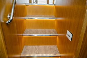50' Riviera 50 Enclosed Bridge 2015 Stairs down to the Companionway