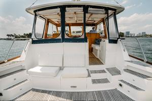49' Grand Banks 49 Eastbay HX 2002 Cockpit Fwd