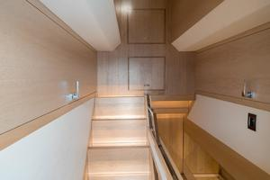 72' Absolute 72 2016 Stairs down to companionway