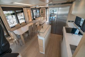 72' Absolute 72 2016 Galley to Port