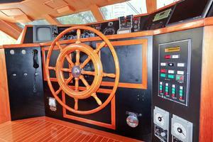 121' Denison Raised Bridge Cockpit Motor Yacht 1986 Pilot House