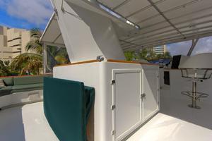 121' Denison Raised Bridge Cockpit Motor Yacht 1986 Flybridge