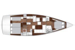 46' Bavaria Vision 46 2016 Manufacturer Provided Image: Bavaria Vision 46 Lower Deck Layout Plan