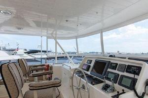 66' Offshore 66' Pilothouse 2005 Flybridge Helm to Port