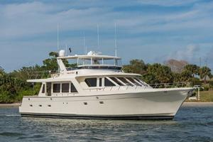 66' Offshore 66' Pilothouse 2005 Starboard Bow Profile