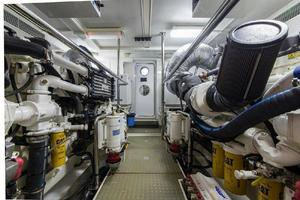 66' Offshore 66' Pilothouse 2005 Engine Room Aft