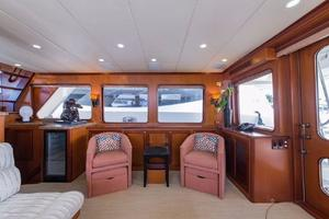 66' Offshore 66' Pilothouse 2005 Salon Starboard TV Down