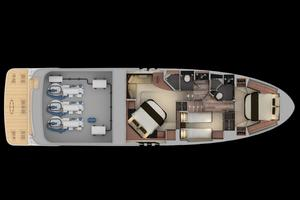 59' Sea Ray L590 2017 below and engine room layout