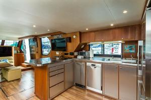 68' Bluewater Yachts 68 1998 Galley w new Appliances