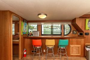 68' Bluewater Yachts 68 1998 Bar Stools at Window