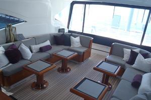 72' Mangusta 72 2006 Cockpit lounge aft 2