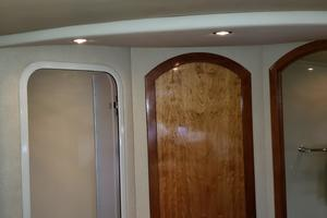 39' Cruisers Yachts 3970 Express Hardtop 2003 Master shower / head split looking aft