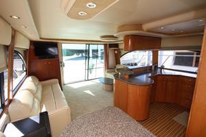 58' Meridian 580 Pilothouse 2003 Salon Looking Aft