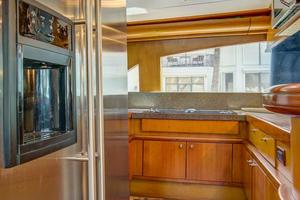 76' Palmer Johnson Sport Fisherman 1993 Galley with JennAir Appliances