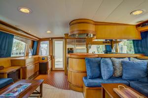 76' Palmer Johnson Sport Fisherman 1993 Salon Looking Aft