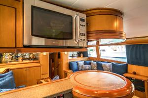 76' Palmer Johnson Sport Fisherman 1993 Galley Bar with Overhead Microwave