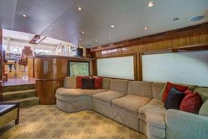 64' Hatteras 64 Motor Yacht 2006 Huge Salon Sofa