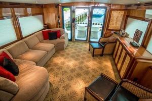 64' Hatteras 64 Motor Yacht 2006 Salon Looking aft