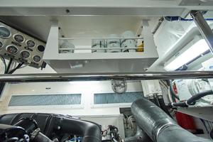 75' Hatteras M75 Panacera 2017 Custom overhead parts rack