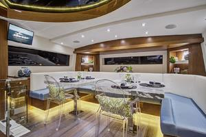 75' Hatteras M75 Panacera 2017 Galley dining for (6-8)