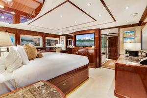 133' Custom Raised Pilothouse 2008 On-deck Master Cabin