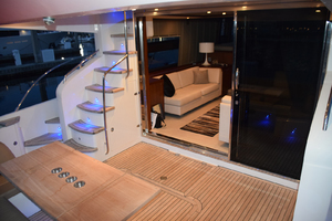 64' Princess Flybridge 2011 Aft Deck