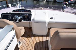 64' Princess Flybridge 2011 Helm and companion seat