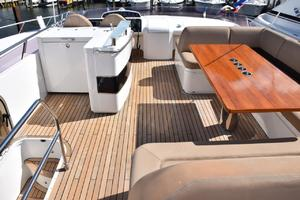 64' Princess Flybridge 2011 Flybridge from aft