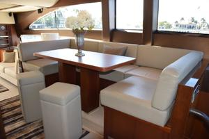 64' Princess Flybridge 2011 Dinette with extra stools