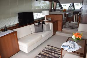 64' Princess Flybridge 2011 Salon portside settee