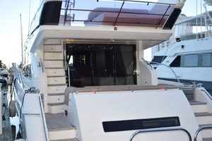 64' Princess Flybridge 2011 Steps to Flybridge