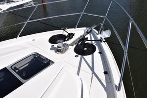 64' Princess Flybridge 2011 Bow rail, windlass , and anhcor
