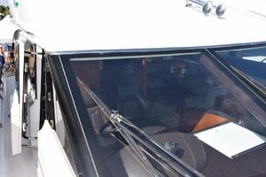 64' Princess Flybridge 2011 Deckhouse door at lower helm