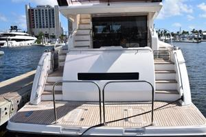 64' Princess Flybridge 2011 Euro Transom, window to crew SR