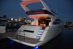 64' Princess Flybridge 2011 Stern view, evening lights