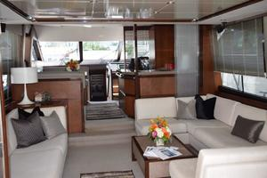 64' Princess Flybridge 2011 Salon looking forward
