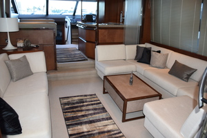 64' Princess Flybridge 2011 Salon looking fwd