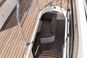 64' Princess Flybridge 2011 Flybridge door to steps down to Cockpit