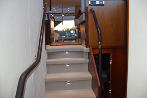 64' Princess Flybridge 2011 Stairs down to staterooms