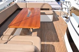 64' Princess Flybridge 2011 Flybridge teak table
