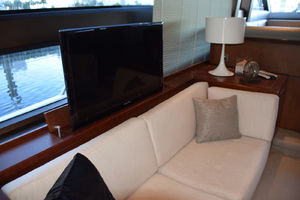 64' Princess Flybridge 2011 Salon TV on port side