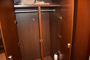 64' Princess Flybridge 2011 Closet in Master