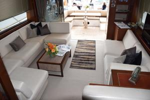64' Princess Flybridge 2011 Salon looking aft