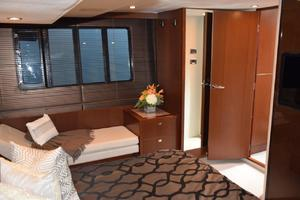 64' Princess Flybridge 2011 Master portside lounge