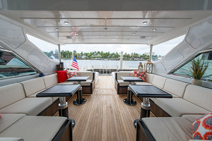 80' Mangusta  2007 Upper Salon Looking Aft
