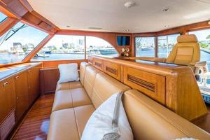 87' Feadship Yacht Fisherman 1985 Seating Forward of Helm