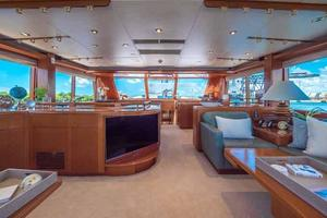 87' Feadship Yacht Fisherman 1985 Salon Looking Forward