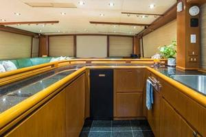 87' Feadship Yacht Fisherman 1985 Galley Looking Aft