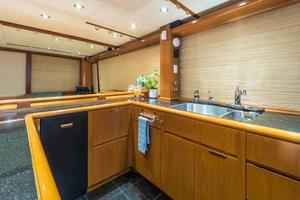 87' Feadship Yacht Fisherman 1985 Galley Looking to Starboard